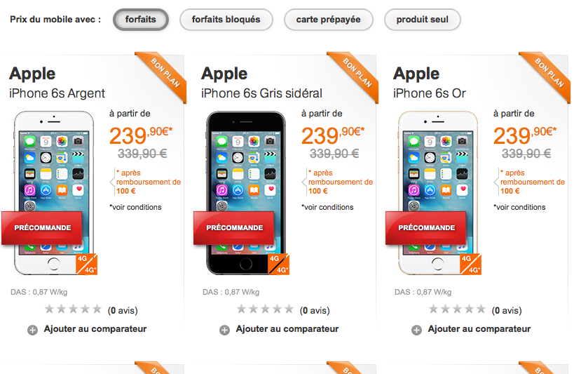 iphone 6 orange en précommande